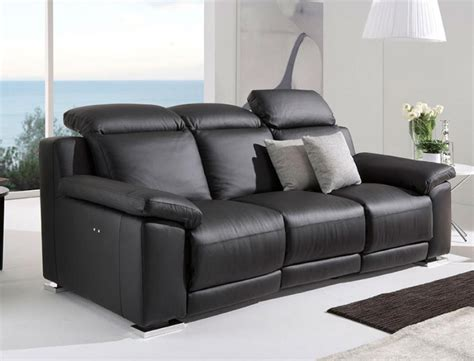 contemporary leather reclining sofa deltasalotti contemporary armonia 2 seater chaise longue