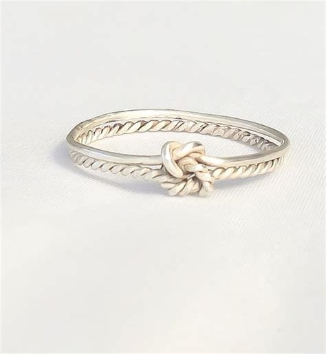 knot ring infinity knot sterling silver