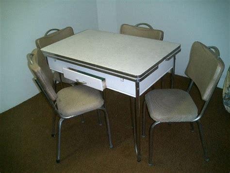 vintage 1950 s kitchen table dinette chrome formica