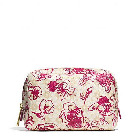 Dompet Coach Original Coach Phone Varsity Patches Sticker Wallet coach f51395 waverly floral coated canvas boxy cosmetic brass pink ruby coach accessories
