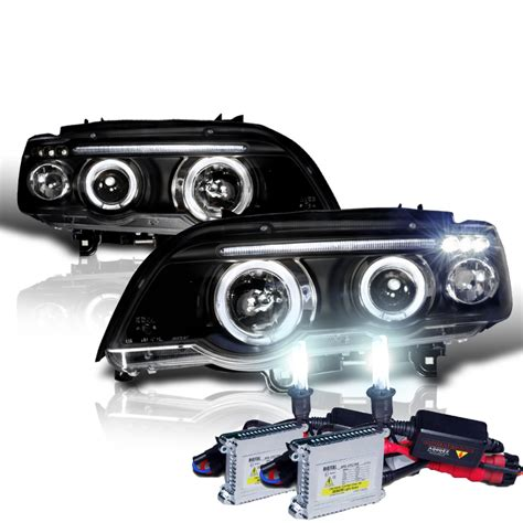 Hid X 01 03 bmw x5 e53 eye halo projector headlights with hid kit