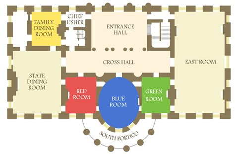 white house layout map white house intruder actually ran through several state