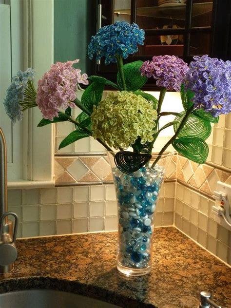 beaded flower arrangements hydrangeas beaded flower arrangement bead flowers