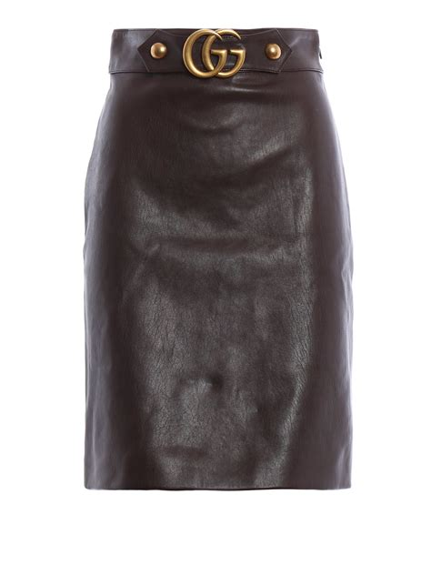 gucci web leather skirt spinnaker boutique