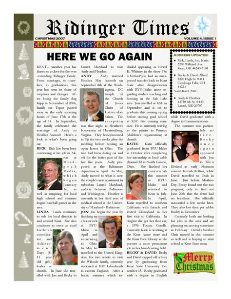 Family Our Newsletter by Live From Kent December 2007