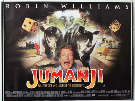 film jumanji cast jumanji 1995 original cinema quad film poster robin