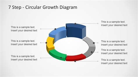 4 step segmented circular diagrams for powerpoint slidemodel 7 step circular growth diagram for powerpoint slidemodel