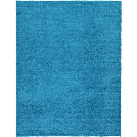 turquoise shag area rug unique loom solid shag turquoise 10 ft x 13 ft area rug 3127967 the home depot