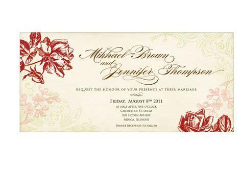 Sample Wedding Invitation Card : Wedding Invitation Card