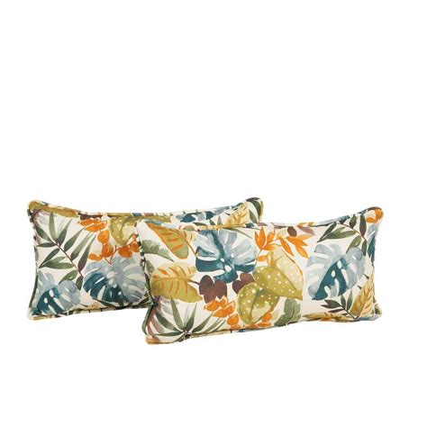 Rope Braid Sunbrella Outdoor Lumbar Pillow Full Image For Outdoor Patio Lumbar Pillows