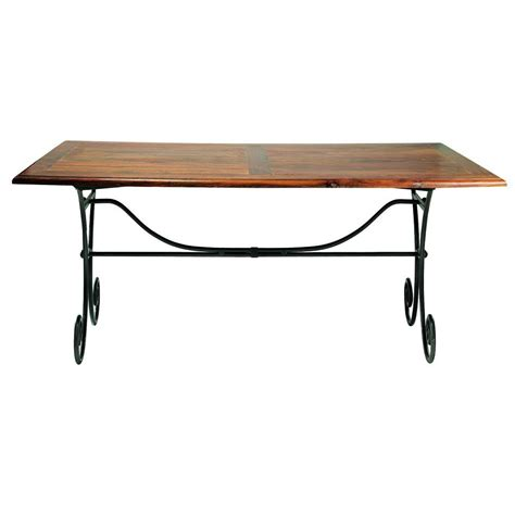 Iron And Wood Dining Tables Solid Sheesham Wood And Wrought Iron Dining Table W 180cm Lub 233 Maisons Du Monde