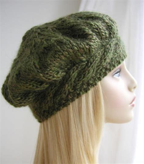 knitting pattern beret you have to see weekend cable beret hat knitting pattern