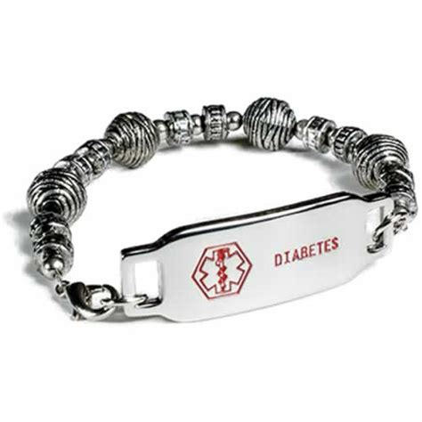 diabetic alert alert bracelet for diabetes best bracelet 2018