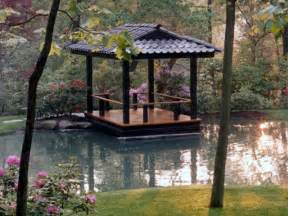 intimate waterfront deck inspired by japanese pagoda design traditional landscape other