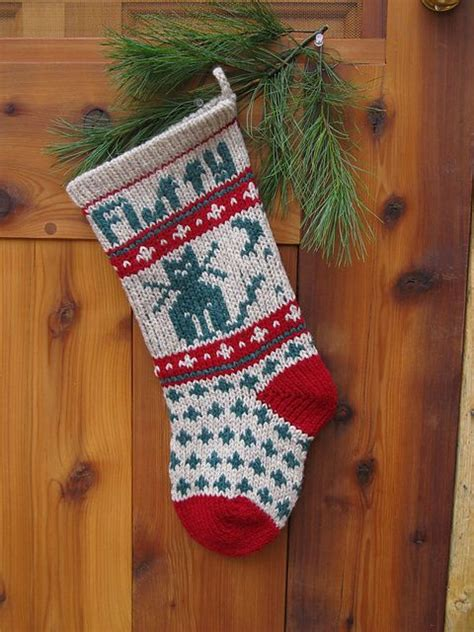 pattern for cat christmas stocking pet cat christmas stocking pattern by annie s woolens