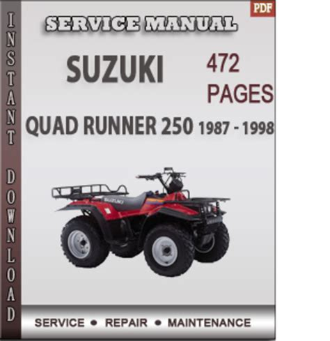 suzuki quad runner 250 1987 1998 factory service repair manual download pligg