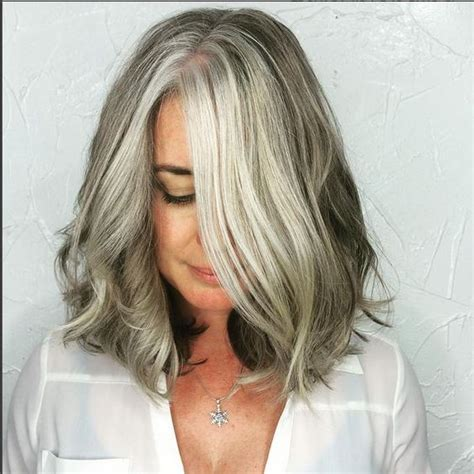 how to blend in gray in blonde hair with low lights pinterest the world s catalog of ideas