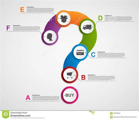 design elements questions abstract infographic in the form of question mark store