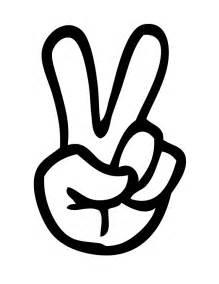 Peace Sign Fingers Clipart  ClipartFest sketch template