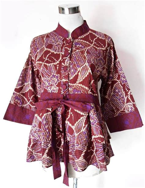 Limited Zakia Blouse Batik Kombinasi Murah blouse batik model plum debora asimetris a04