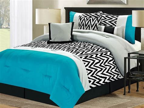 7 pc bentley comforter set blue queen home woot