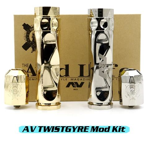 Av Gyre Dimple Best Quality Clone av twistgyre twist gyre mechanical mod matching rda kit