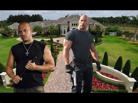 vin diesel s house vs dwayne johnson s house tour 2017