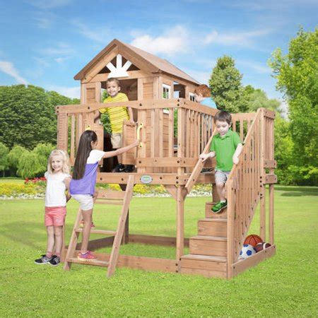backyard discovery scenic heights wooden cedar playhouse