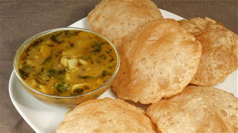 S Kitchen Recipes by Aloo Puri Potatoes With Fried Puffed Bread Manjula S