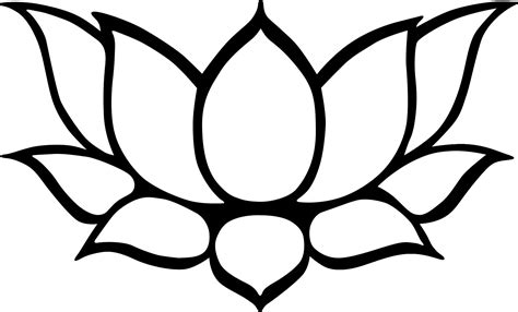 Lotus Flower Outline Lotus Line Drawing Clipart Best