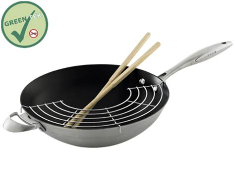 ceramic induction wok scanpan ctx wok non stick ceramic titanium induction 32cm