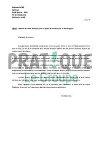 lettre de motivation boulangerie le dif en questions