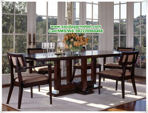 Satu Set Meja Makan Jati set meja makan minimalis jati harga set meja makan