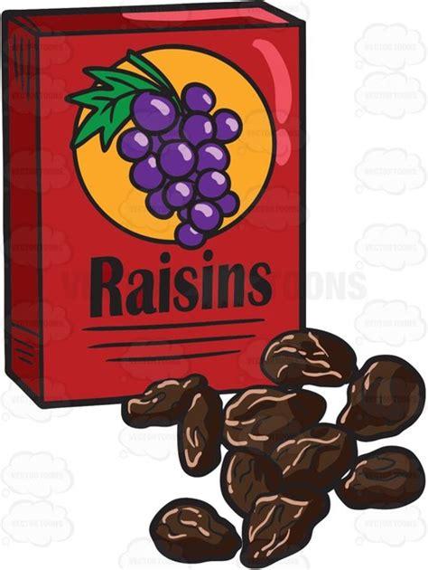 my ate raisins a box of raisins clipart vector