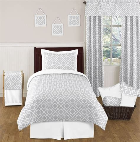 grey twin bedding gray and white diamond childrens and kids bedding 4pc
