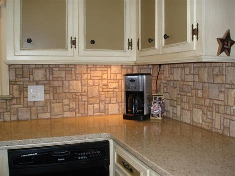 kitchen dining stone splash nature backsplash for your