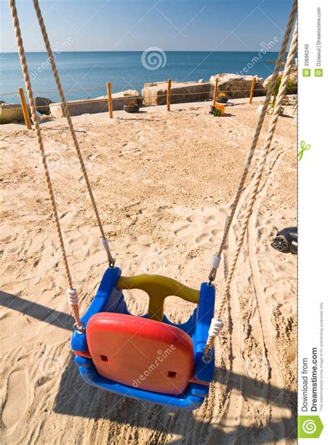 swings on the beach swings on the beach royalty free stock images image