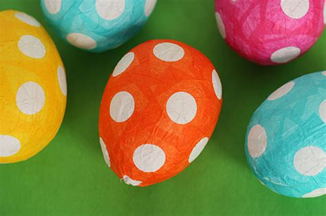 How To Make Easter Eggs Out Of Paper - not martha papier mache easter eggs