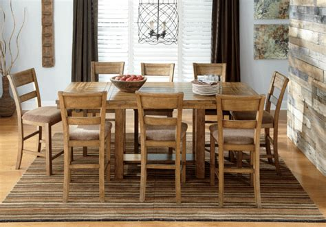 krinden counter height dining table and 8 chairs