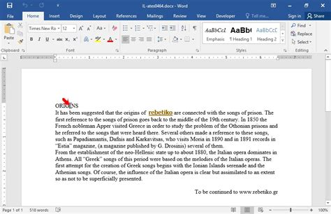 formate of aplication later apply the heading 1 style on the text origins and the
