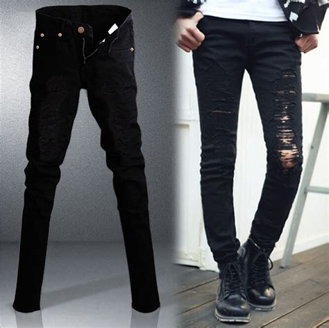 Ripped Knee Jegging White Model Highwaist where can i buy black ripped bbg clothing