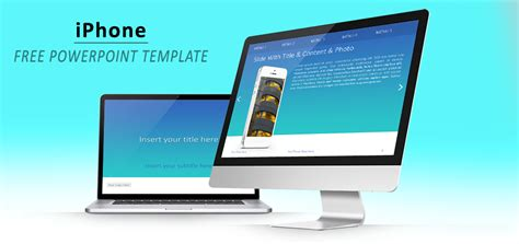 iphone powerpoint template iphone with turquoise background powerpoint template
