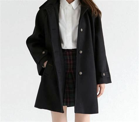 Trench Jacket Black Korean Style 1000 ideas about white skirts on fashion
