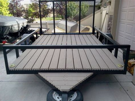 Utility Trailer Flooring by Utility Trailer Composite Decking And Trailers On