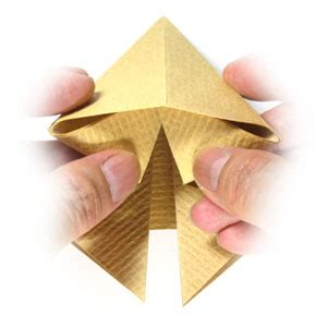 Origami Pyramid Easy - how to make a simple origami pyramid page 3