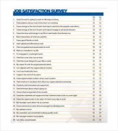free employee satisfaction survey template sle satisfaction survey 5 documents in pdf word
