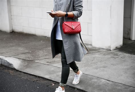 red saint laurent bag   shop style blog