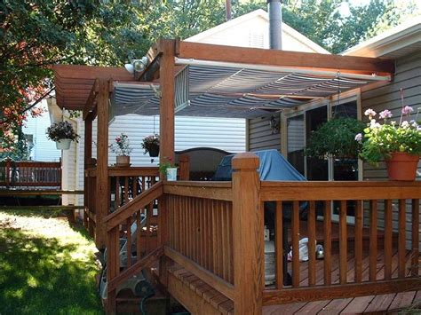 permanent deck awnings triyae com deck canopy ideas various design