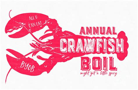 The Home Decor Company by Annual Crawfish Boil Poster Digital Art By Edward Fielding