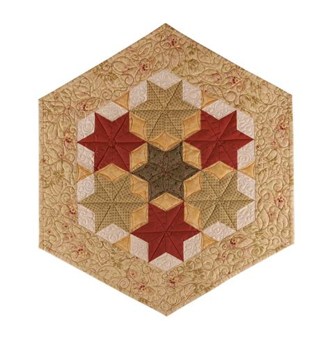 Hexagon Shapes For Quilting by Hexagon Quilt Patterns Digital Or Shipped To You